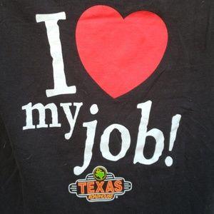 Tops - Texas Roadhouse Shirt I ❤️ my job!